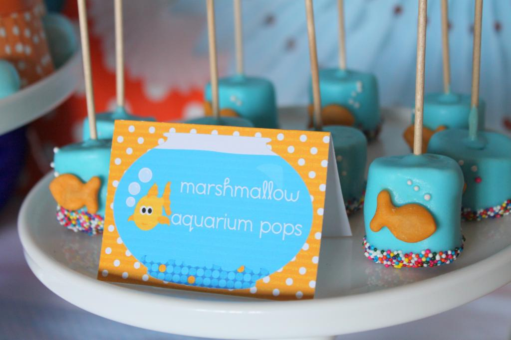 """""""Go Fish"""" Birthday Party - Design Dazzle Healthy Snacks For Kids On The Go"""