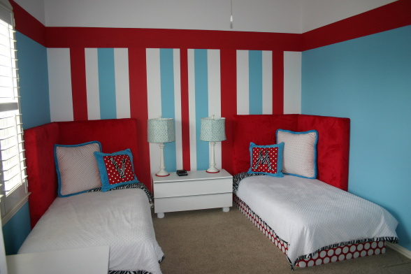 Ideas for red white and blue kids rooms design dazzle - Interesting images of red and blue bedroom decorating design ideas ...