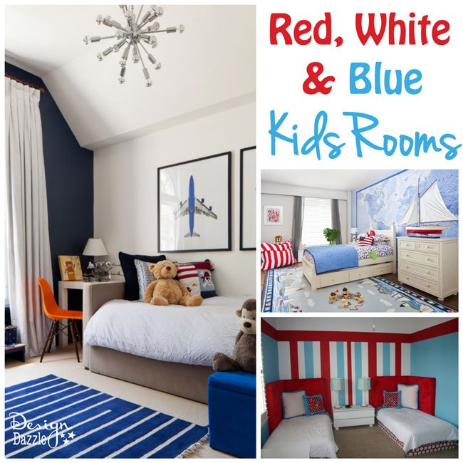 Red white blue decorating ideas - Interesting images of red and blue bedroom decorating design ideas ...