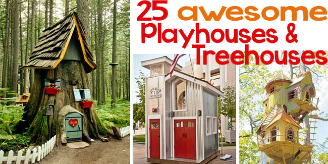 25 ideas for playhouses and treehouses - Design Dazzle