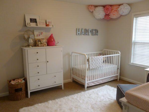 pink peach girls nursery