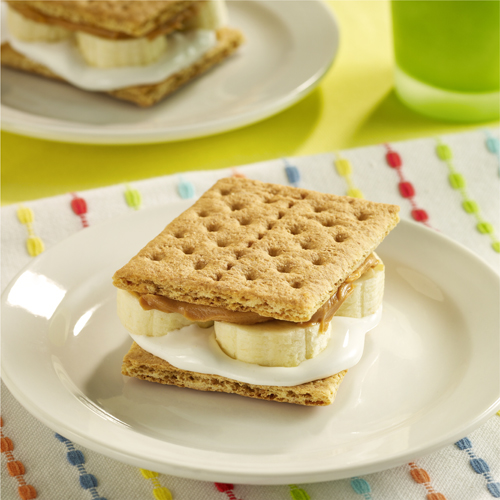Peanut Butter and Banana S'mores