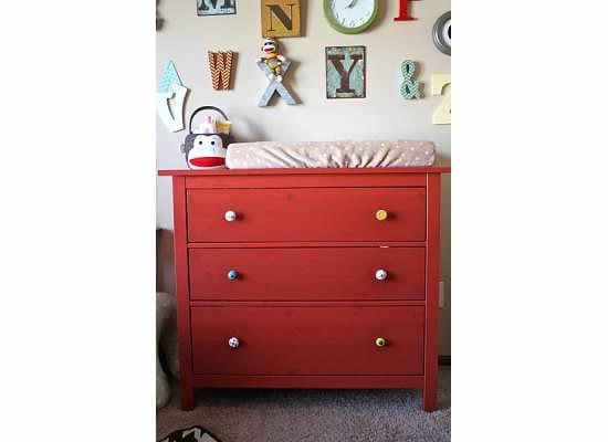 Sock Monkey Nursery Design Dazzle. Hemnes Red Dresser   Trend Dressers Designs