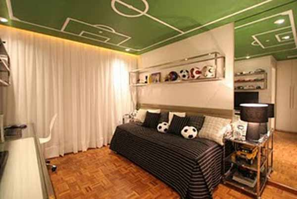 Boy S Soccer Modern Bedroom