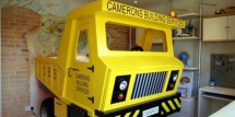 Yellow-Truck-beds-for-kids-room