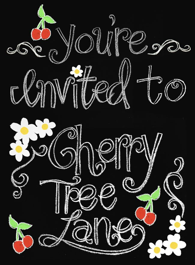 You're invited to Cherry Tree Lane---Design-Dazzle