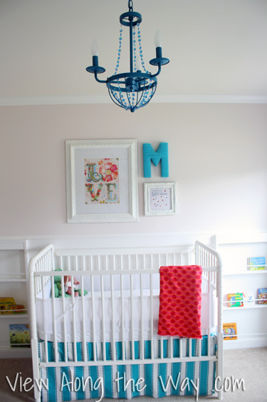 Colorful Girls Baby Nursery Design Dazzle