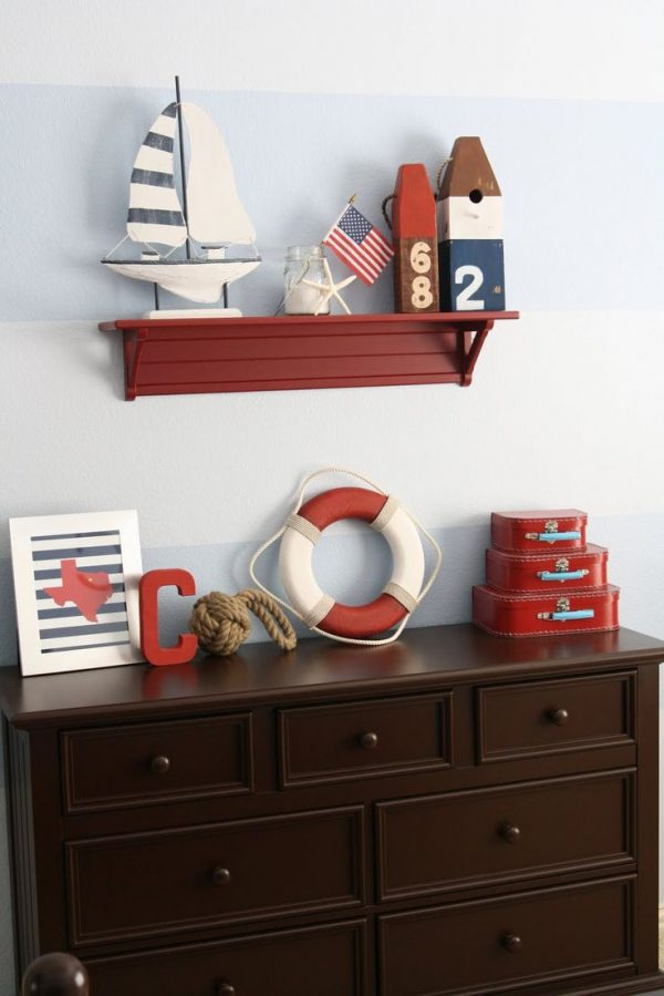 Classic nautical boys room design dazzle for Boys nautical bedroom ideas