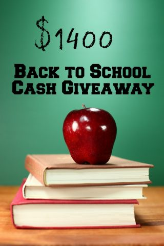 Back to School $1400 Cash Giveaway