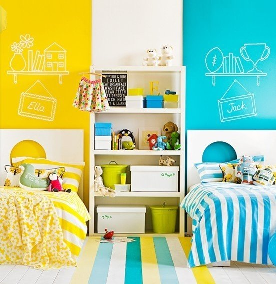25 awesome shared kids 39 rooms design dazzle Colors for toddler boy room
