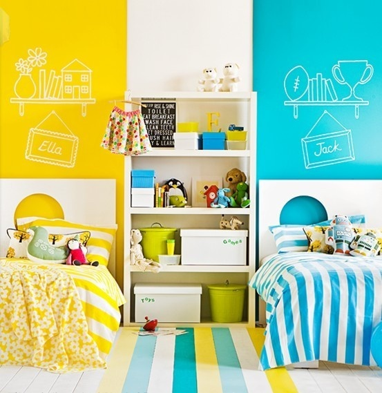 A Boy And Girl Shared Room Ideas For Kids: 25 Awesome Shared Kids' Rooms