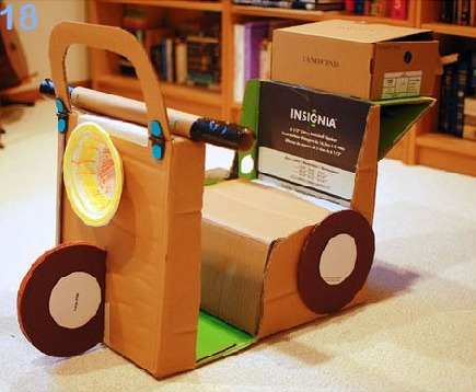 cardboard scooter