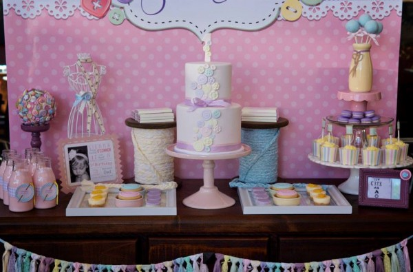 sew cute as a button dessert table