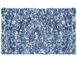 Denim blue rug