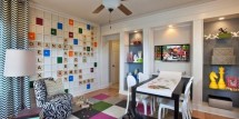 life-sizedd scrabble wall in kids hangout room - Design Dazzle