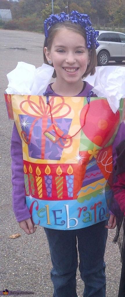 No-Sew gift bag Halloween Costume -- Design Dazzle