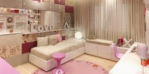 girl teen contemporary room