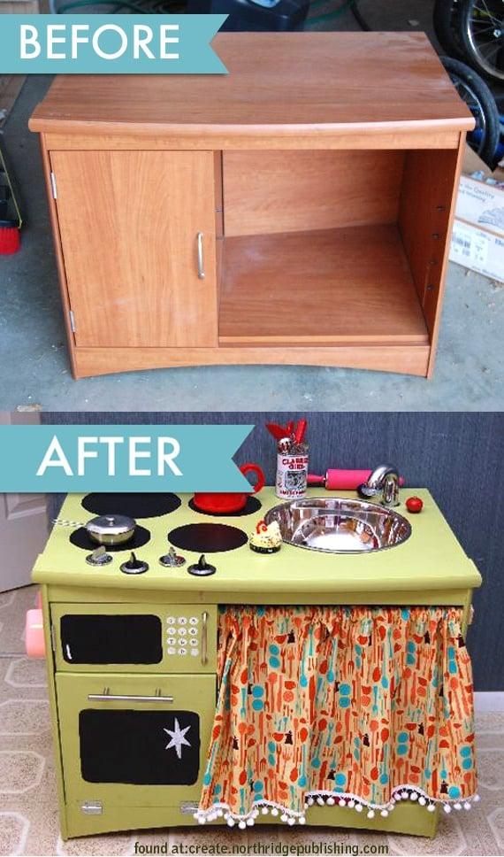 Кухня для дочки из старой мебели