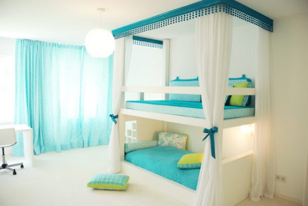 Fabulous Beautiful charming sophisticated bunk bed room Design Dazzle