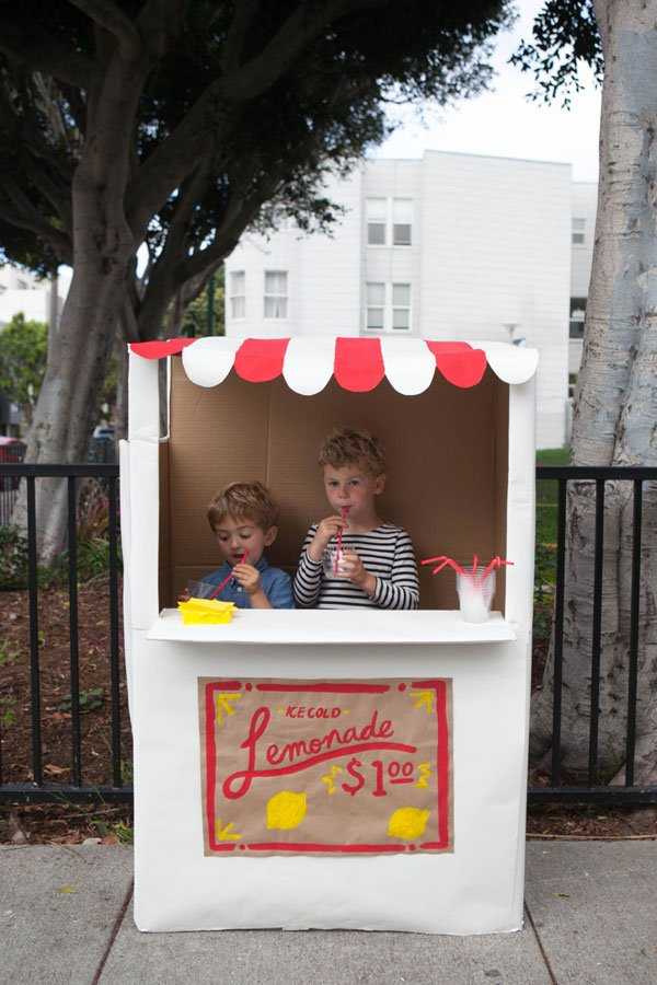 Cardboard creations - lemonade stand