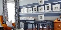 modern blue nursery