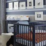 Modern Blue & Orange Nursery