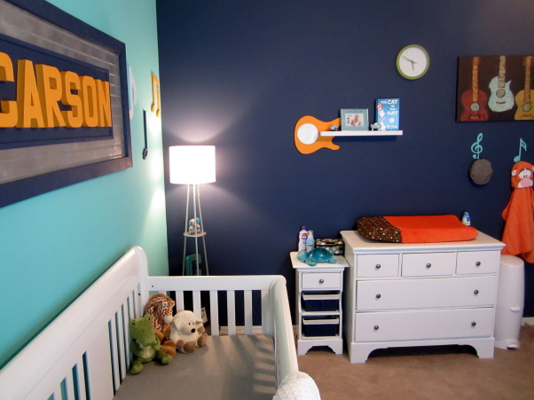 music themed nursery room