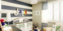 Using stripes to decorate a nursery - Design Dazzle