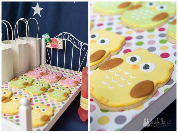 night owl sleepover party cookies