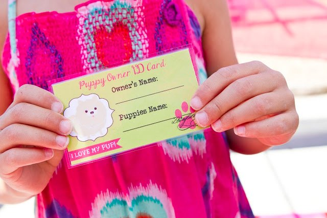 puppy parlor id card