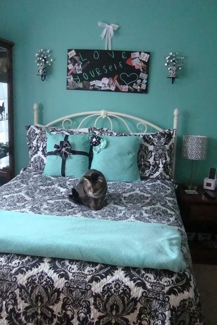 Tiffany Blue Teen Girls Bedrooms  Design Dazzle - Black White And Blue Bedroom