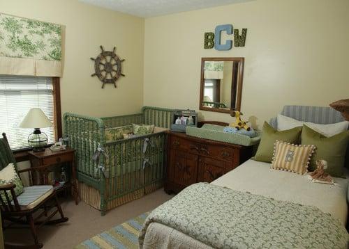 Green Amp Blue Tradiitional Baby Nursery Design Dazzle