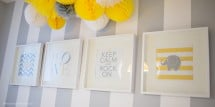 contemporary yellow and gray nursery art prints