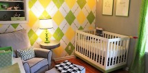 modern yellow and green nursery
