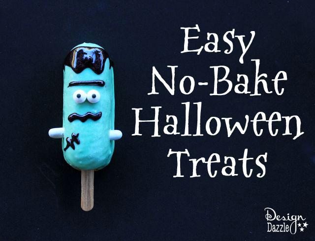 Easy no-bake Halloween treats using snack cakes - Design Dazzle