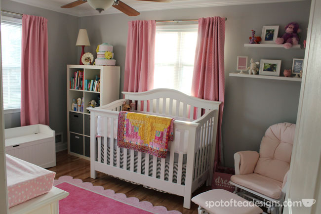 Pink And Gray Baby Girl S Nursery Design Dazzle