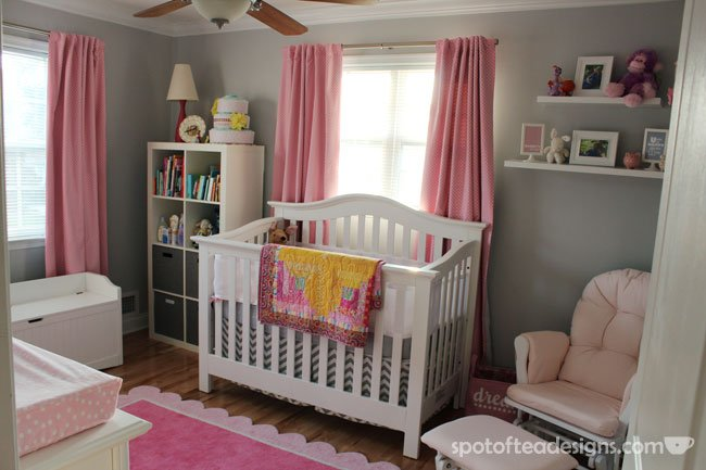 Pink And Gray Baby S Nursery Design Dazzle