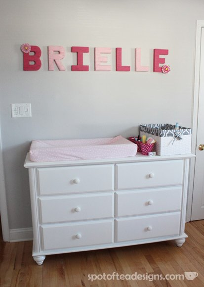 Pink and Gray Baby Girl's Nursery -- Design Dazzle