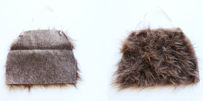 DIY: How to make an inexpensive beard out of craft fur - Design Dazzle