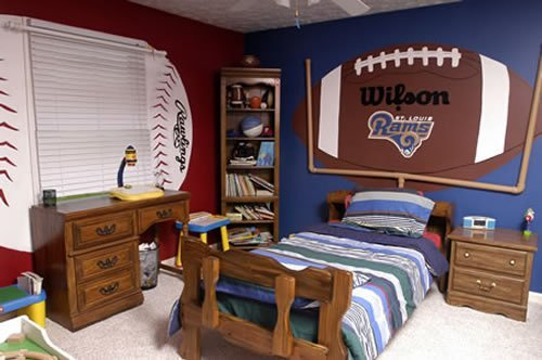 Football Themed Boy S Room Bedrom