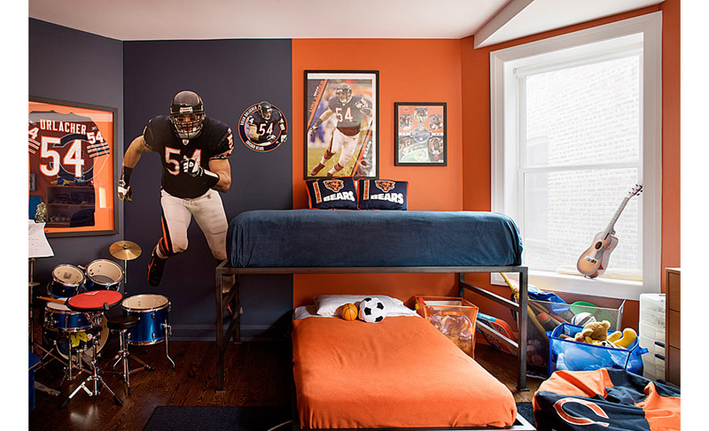 20 boys football room ideas design dazzle for Boy football bedroom ideas