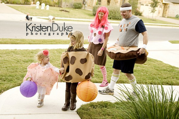 family of sweets halloween costumes