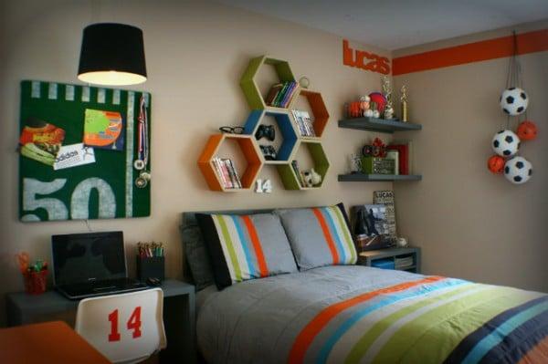 colorful teen boys room