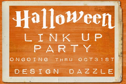 halloween link up party at design dazzle