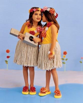 hula girls no sew halloween costume