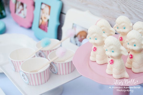 little lamb party chocolate lambs
