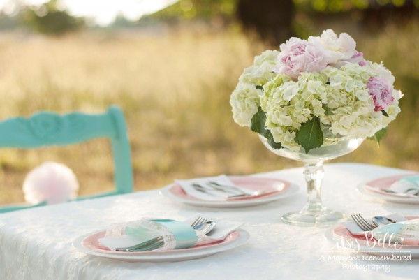 vintage lamb party flowers