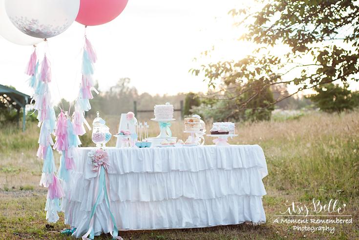 little lamb party dessert table