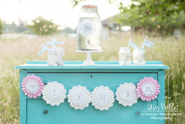 little lamb party drink station
