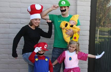 mario family halloween costumes